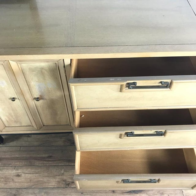 2010s Hollywood Regency American Martinsville Dresser With Mirror For Sale - Image 5 of 9