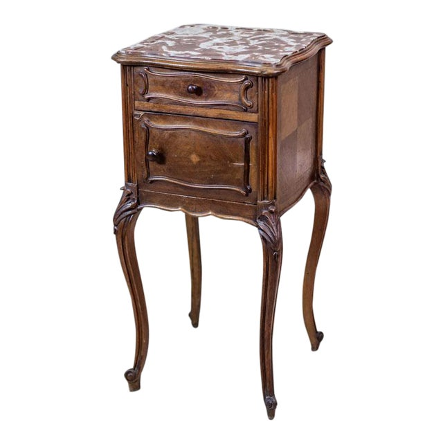 19th-Century Louis Philippe Nightstand For Sale