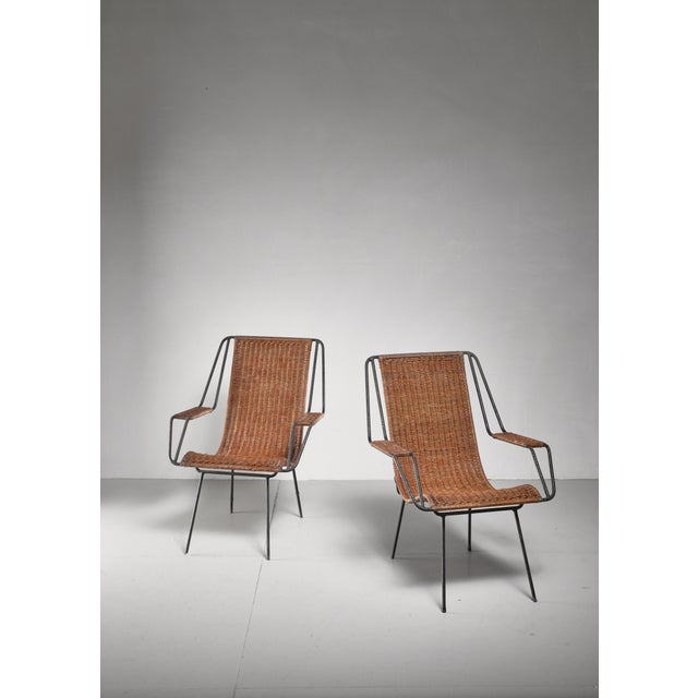 Mid-Century Modern Carlo Hauner and Martin Eisler Pair of Lounge Chairs, Brazil For Sale - Image 3 of 6