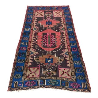 Vintage Turkish Caucasian Rug-3'8'x6'2' For Sale