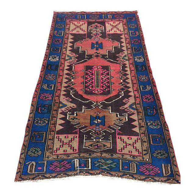Vintage Turkish Caucasian Rug-3'8'x6'2' For Sale