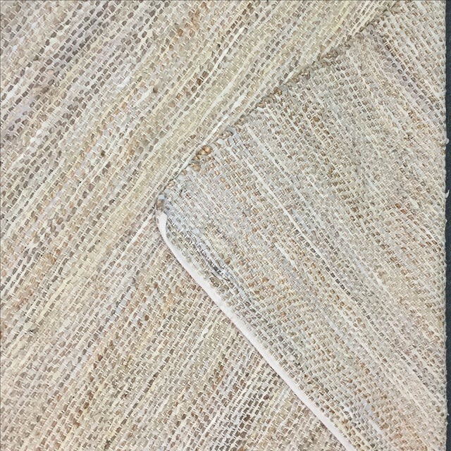 Leather & Fiber Woven Rug - 8′ × 10′ - Image 3 of 7