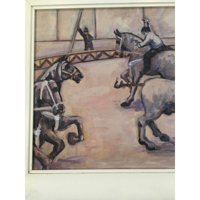 1960s Arthur Smith 'Trick Riding' Original From Circus Series Painting For Sale - Image 5 of 12