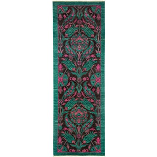 """Suzani Hand Knotted Runner - 2'7"""" X 7'8"""" For Sale"""