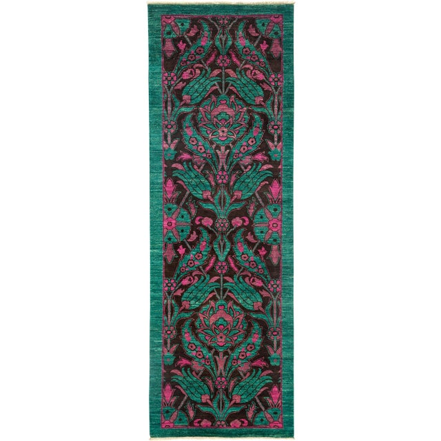 "Suzani Hand Knotted Runner - 2'7"" X 7'8"" For Sale"