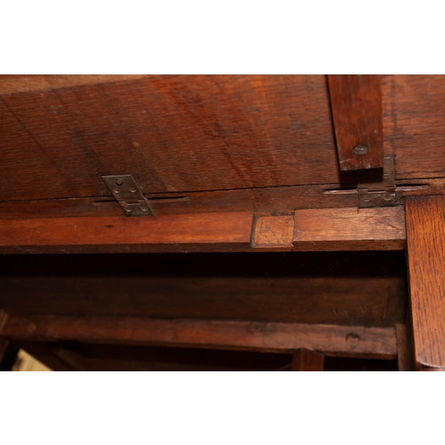 20th Century Traditional Oak Barley Twist Gate Leg Drop Leaf Table For Sale - Image 10 of 11