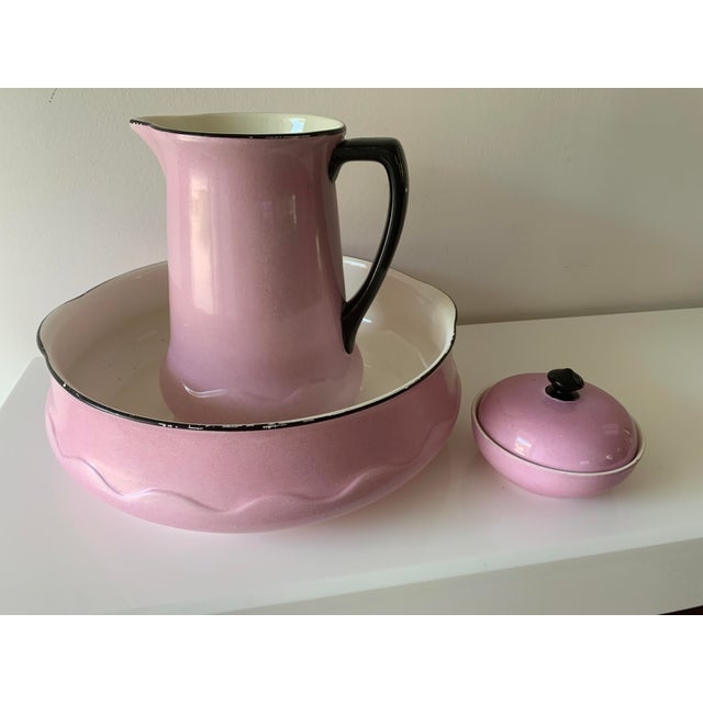 Early 20th Century Ludwig Wessel Wash Basin, Pitcher & Soap Container, 3 Pieces For Sale - Image 13 of 13