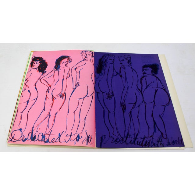1969 Walasse Ting Mid-Century Modern Poetry & Art Book Signed For Sale - Image 9 of 10
