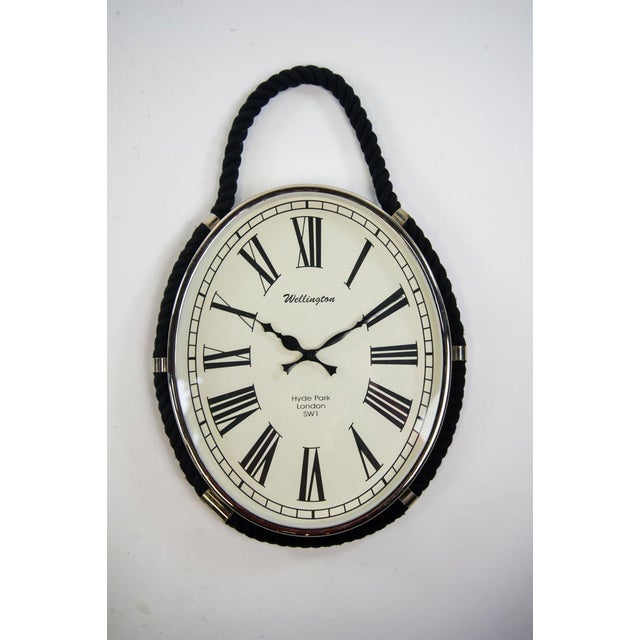 Metal Oval Colmore Wellington Wall Clock For Sale - Image 7 of 7