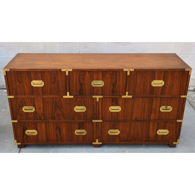 Pair of Walnut Baker Chests of Drawers For Sale - Image 9 of 13