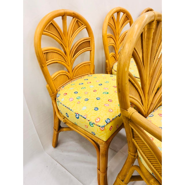 Set of Eight Vintage Bent Rattan Chairs For Sale - Image 9 of 11