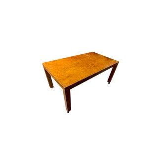 1970s Mid-Century Modern Milo Baughman Burl Dining Table or Desk For Sale