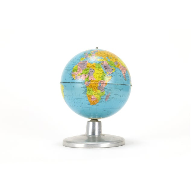 "Replogle Simplified 8"" Globe on Aluminum Base - Image 2 of 3"