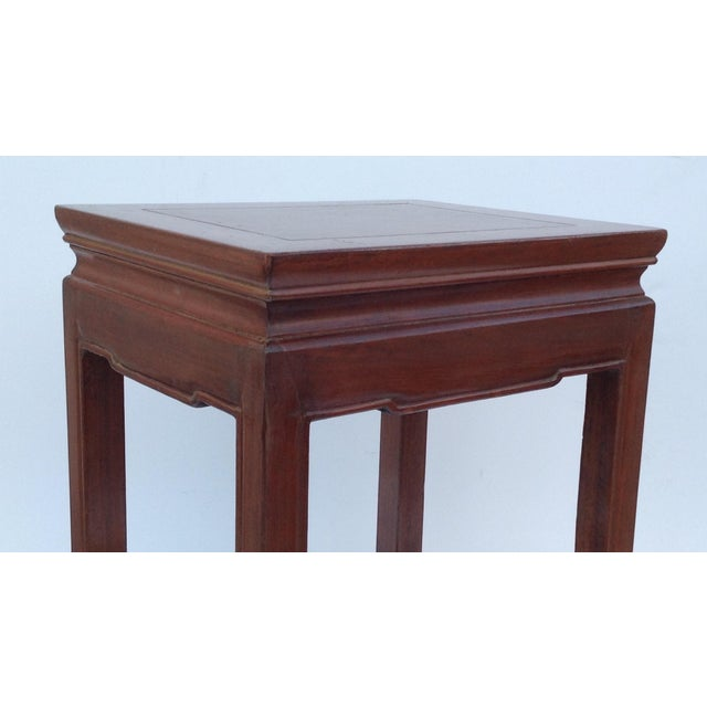 Brown Asian Oak Low Occasional Side Table For Sale - Image 8 of 11
