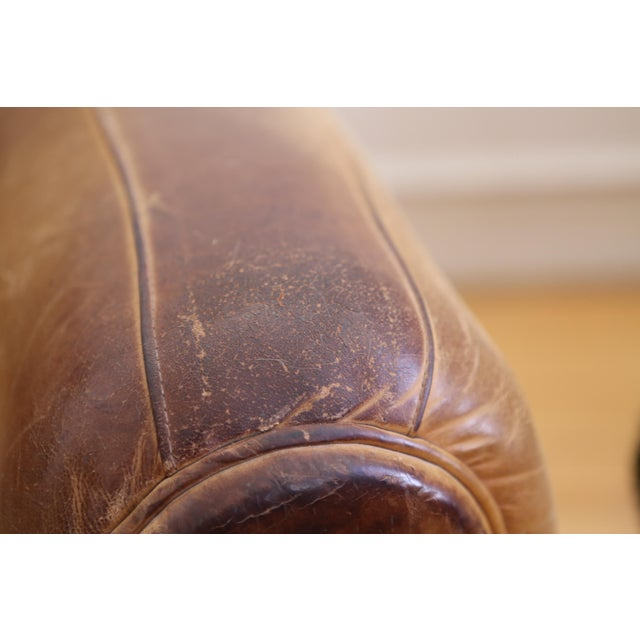 Animal Skin Original Vintage Leather Club Chair For Sale - Image 7 of 11