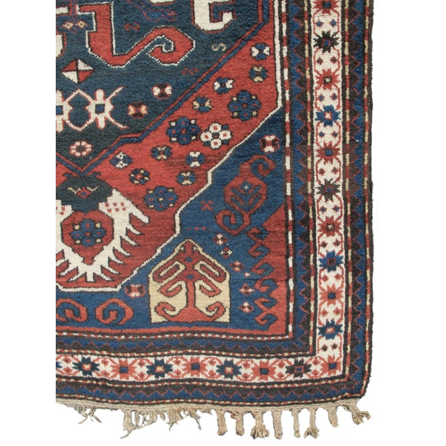 Woven in the South Caucasian region of Karabagh this rug has personality. The central cloud-band medallion is reminiscent...