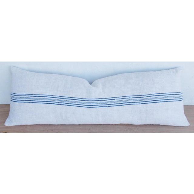 Long French Homespun Body Pillow - Image 7 of 8