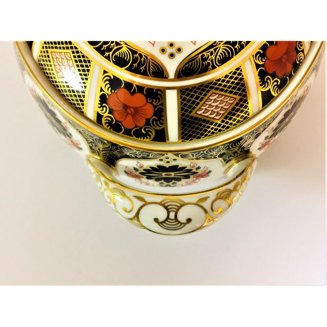 Blue Royal Crown Derby Covered Vegetable Dish in Old Imari Pattern For Sale - Image 8 of 12