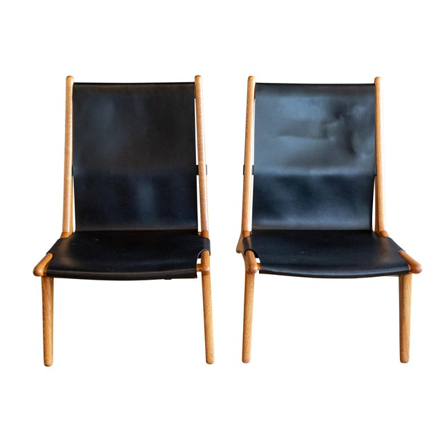 """Mid-Century Modern Uno & Östen Kristiansson """"Hunting"""" Chairs - a Pair For Sale - Image 3 of 8"""
