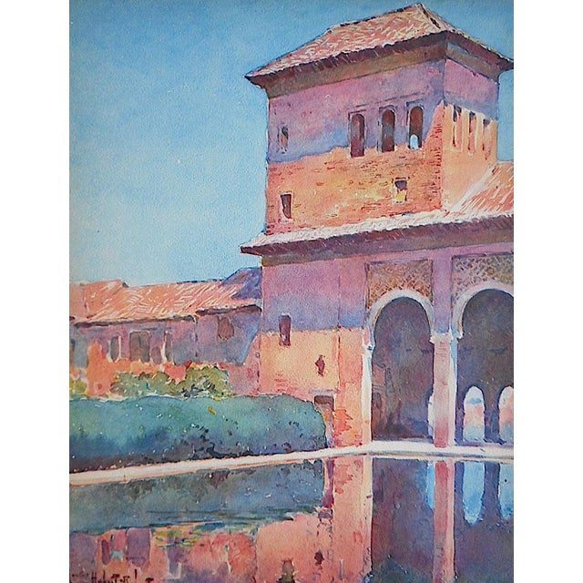 Vintage Lithograph Spanish View-Granada - Image 1 of 3