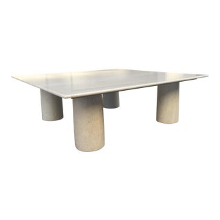 Large Mario Bellini Italian Marble Coffee Table For Sale