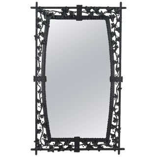French Wrought Iron Mirror For Sale