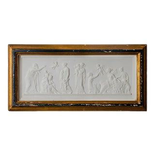 Early 20th Century Tour Intaglio Plaster Plaque For Sale