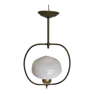 Vintage Brass Oil Lamp Inspired Pendant
