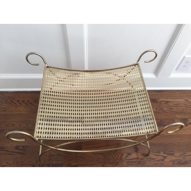 Vintage Brass Vanity Stool - Image 3 of 4