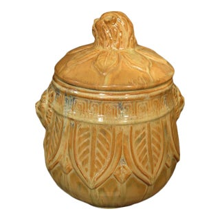 Wildwood Glazed Pottery Lidded Jar For Sale