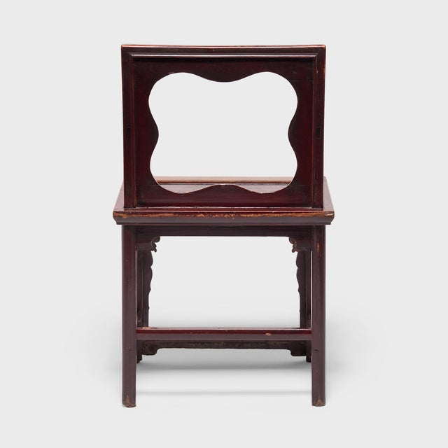 19th Century Chinese Rose Chairs - a Pair For Sale - Image 4 of 12