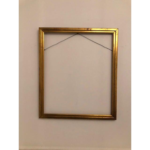 Antique Gold Leaf Gilded Wood Frame | Chairish