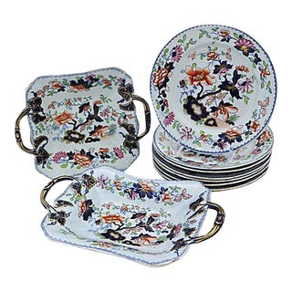 1830s English Ironstone Set - 10 Pieces For Sale