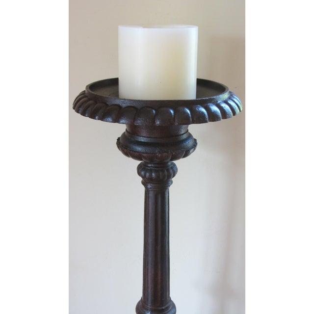 Casa de Encanto Massive Artisan Forged Candle Stands For Sale - Image 4 of 8