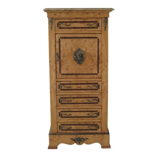 European Style Marble Top Lingerie Chest For Sale