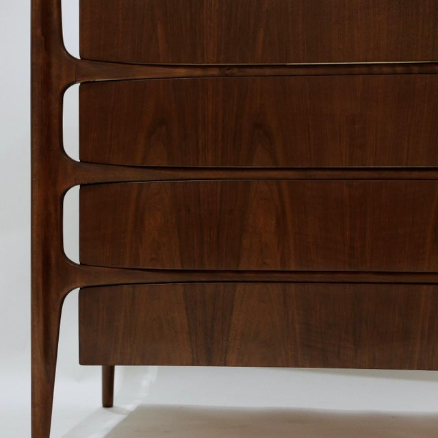William Hinn Swedish Book-Matched Gentlemen's Chest With Top Cabinet For Sale In New York - Image 6 of 9
