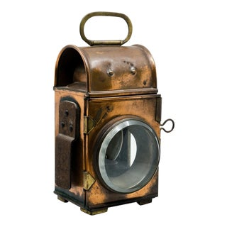 19th C. Pfeil & Co. Industrial Style Brass and Copper Lantern For Sale
