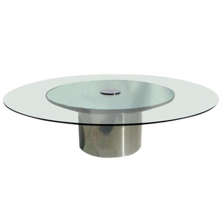 Polished Metal, Glass and Mirror Coffee Table by Pace For Sale
