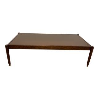 Mid-Century Modern Italian Bronzed Mirror Top Coffee Table For Sale