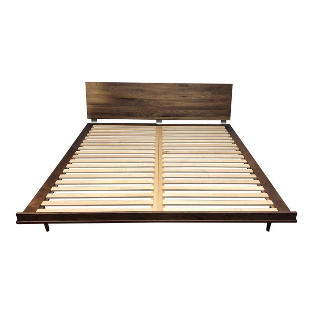 Herman Miller Nelson Walnut Thin Edge King Bed For Sale