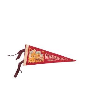 Gingerbread Castle Hamburg NJ Felt Flag For Sale
