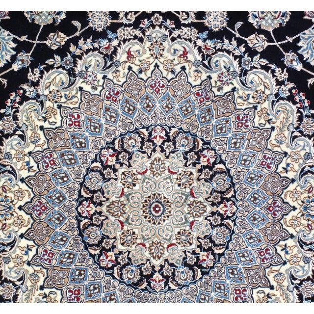Islamic Pasargad NY Persian Nain Hand-Knotted Lamb's Wool & Silk Rug - 8′10″ × 11′10″ For Sale - Image 3 of 5