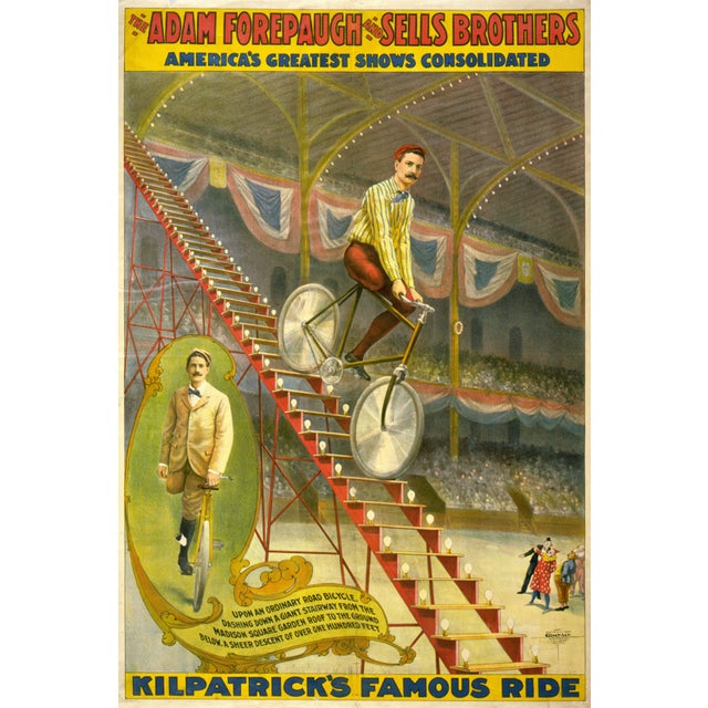 Kilpatrick's Famous Ride Print of Circus Poster - Image 4 of 4