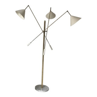 Italian Triennale Floor Lamp in the Style of 1960 Angelo Lelli (Arredoluce) For Sale