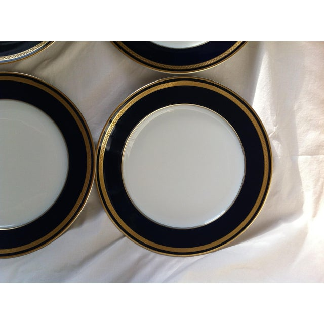"Blue Hutschenreuther ""Monarch"" China Plates - Set of 4 For Sale - Image 8 of 10"