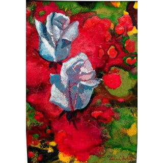 Abstract Giclee Print With Roses For Sale