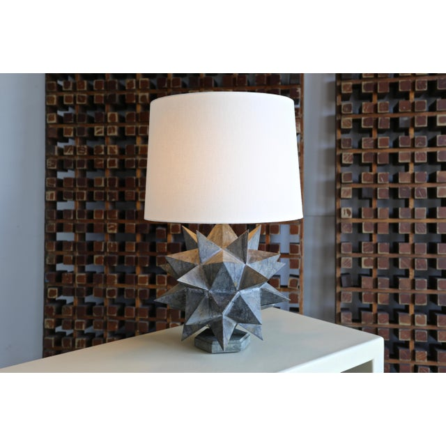 Sculptural Metal Table Lamps, Circa 1965 - a Pair For Sale - Image 9 of 12