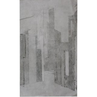 Abstract Graphic English Etching For Sale