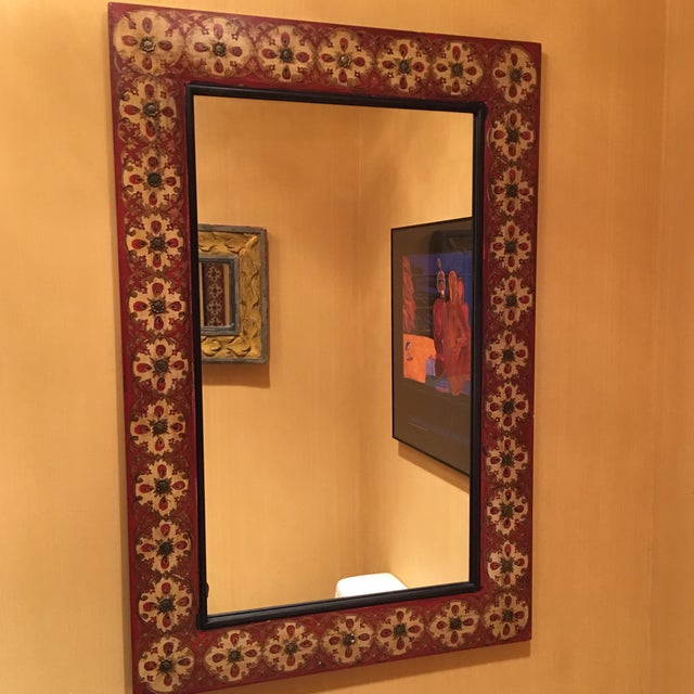 Spanish Style Red Mirror - Image 2 of 7