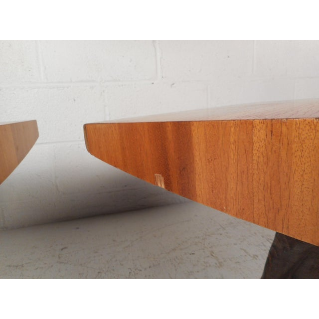 Pair of Midcentury Totem End Tables by Witco For Sale - Image 10 of 13